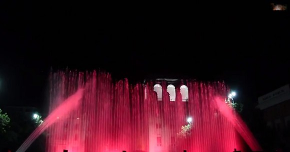fontane acqua e fuoco musica e colori